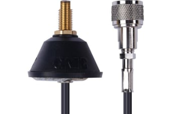 GME Universal Antenna Base with Low Loss Foam Coax  cable and  PL259 ABL001