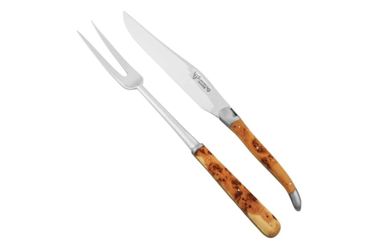Laguiole En Aubrac Carving Set Juniper