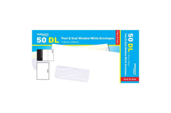 Impact DL Peel And Seal Envelopes (Pack of 50) (Window White)