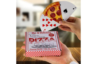 Hot & Delicious Pizza Slice Playing Cards in Pizza Box | Gamago