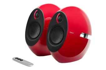 Edifier E25HD Luna HD Bluetooth Optical DSP 74W Speakers with 3.5mm AUX - Red (SPE-E25HD-RD)