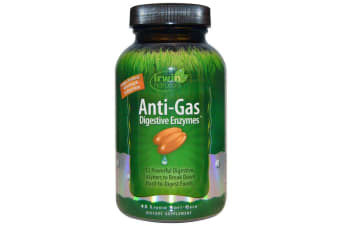 Irwin Naturals Anti-Gas Digestive Enzymes - 45 Liquid Soft-Gels