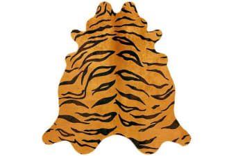 Exquisite Natural Cow Hide Tiger Print 170x180cm