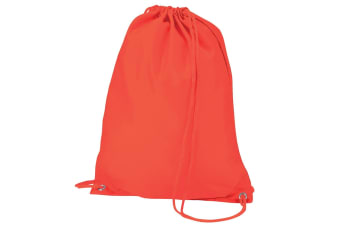 Quadra Gymsac Shoulder Carry Bag - 7 Litres (Orange) (One Size)