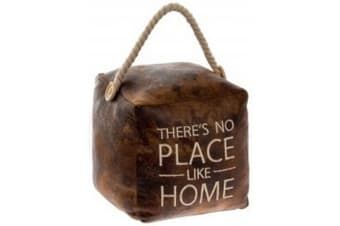 Faux Leather Doorstop (No Place Like Home) (15cm)