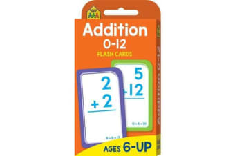 School Zone Addition 0-12 Flash Cards (new cover)