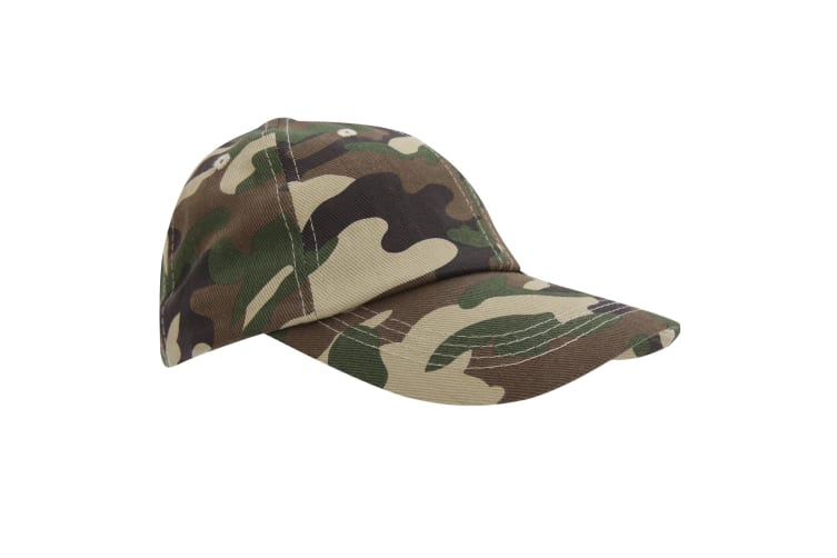 Result Unisex Heavy Cotton Premium Pro-Style Baseball Cap (Pack of 2) (Camo) (One Size)
