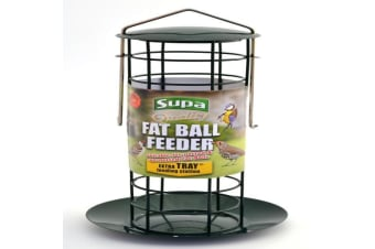 Supa Fat Ball Bird Feeder With Tray (Green) (One Size)