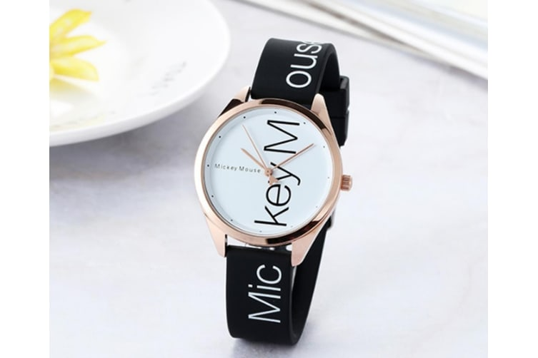 Select Mall Fashion Simple Waterproof Child Quartz Watch Fashion Trend Casual Watch Suitable for Boys and Girls-White
