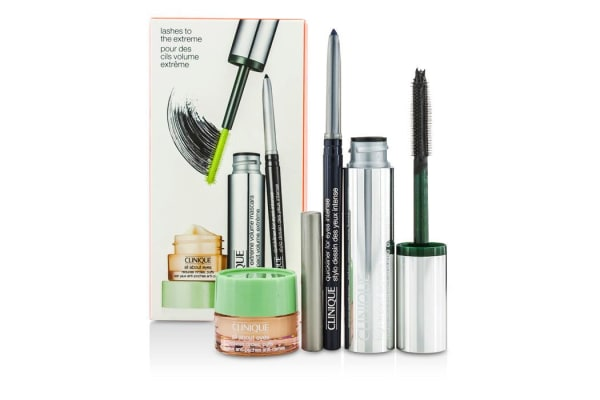 Clinique High Impact High Impact Extreme Volume Mascara Set: 1x Extreme Volume Mascara, 1x Quickliner, 1x All About Eyes (3pcs)