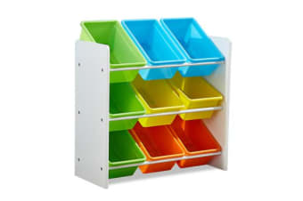 3-Tier Kids Toy Organiser 9 Bins