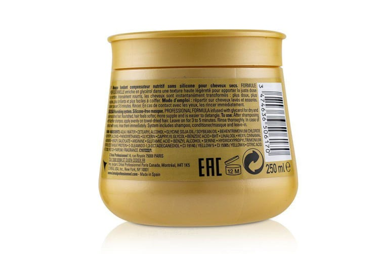 L'Oreal Professionnel Serie Expert - Nutrifier Glycerol Nourishing System Silicone-Free Masque 250ml