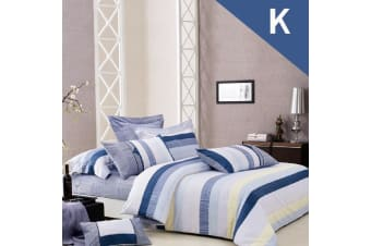 King Size CITY OF LOVE Design Quilt Cover Set