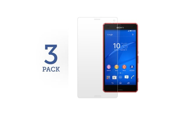 3 Pack Screen Protector for Sony Xperia Z3 Compact