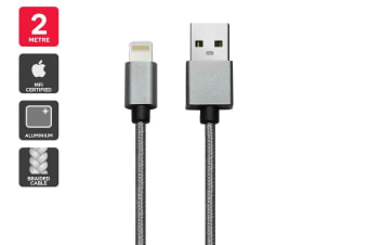 Apple MFI Certified Braided Lightning to USB Cable (2m)