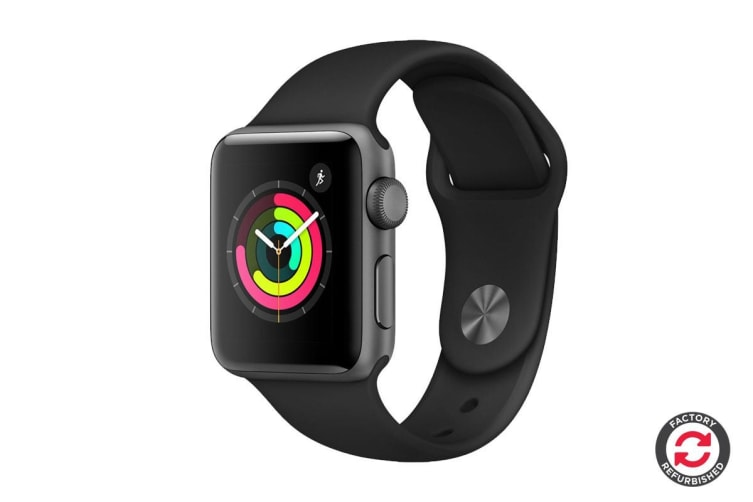 Apple Watch Series 3 Refurbished (Space Grey, 42mm, Black Sport Band, GPS Only) - A Grade