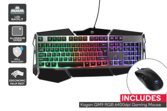Kogan G9 RGB Gaming Keyboard & Mouse Combo