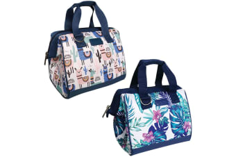 2PK Sachi Thermal Insulated Picnic Lunch Cold Box Bag Tropical Paradise Llamas