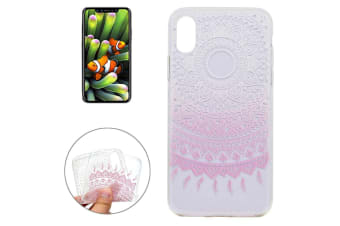 For iPhone XS X Case  Pink Mandala High-Quality Transparent Protective Cover