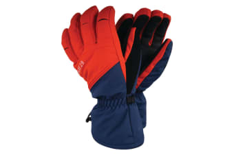 Dare 2B Mens Hold On Stretch Ski Gloves (Admiral Blue/Fiery Red)
