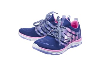 Skechers Childrens Girls SK81560L Diamond Runner Sports Shoes/Trainers (Navy Hot Pink)