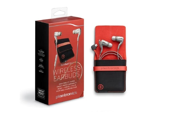 Plantronics BackBeat Go 2 (White) with Charging Case