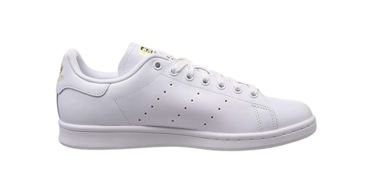 check out d5ce9 3759b Adidas Originals x THE FARM Company Women's Stan Smith Shoes (White/Gold,  Size 8.5) | Shoes