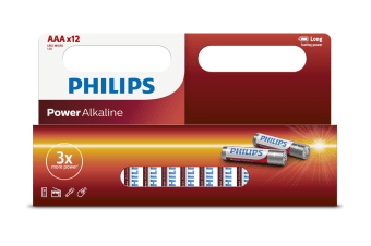 Philips Alkaline Battery 12 x AAA - 20 Pack