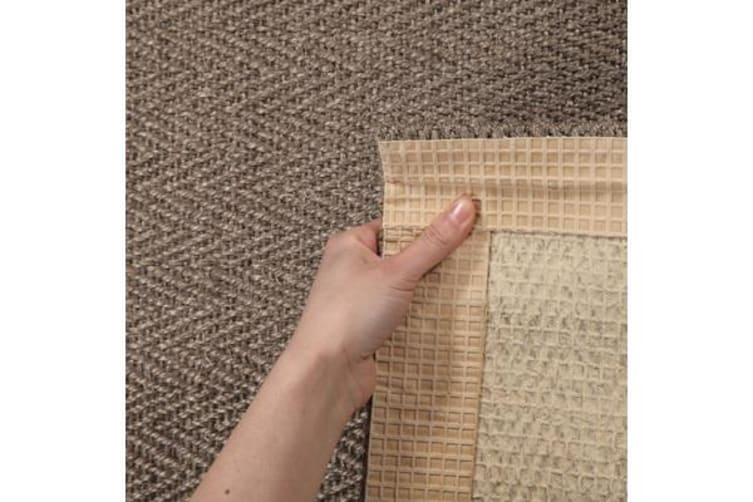 Natural Sisal Rug Herring Bone Grey 400x80cm