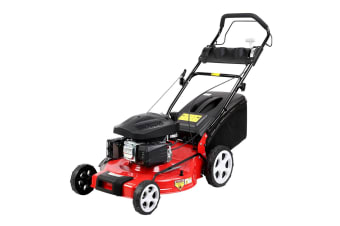 Giantz Lawn Mower Self Propelled Petrol Lawnmower 4 Stroke 21 Grass Catch