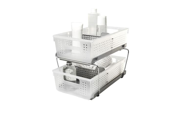 Madesmart Two Level Storage w/ Dividers 21x37x15cm Frost