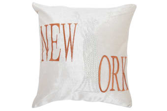 Panache New York Sparkle Design Cushion Cover (Cushion Pad Not Included) (Mink)