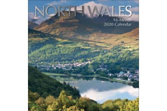 North Wales - 2020 Premium Square Britain Wall Calendar 16 Months New Year Gift