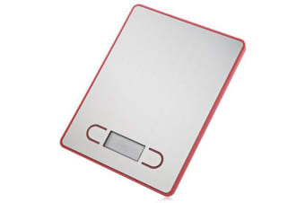 5Kg Stainless Steel Electronic Kitchen Scale 1G Graduation Backlit Lcd 5000G - Red