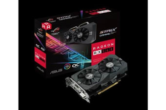 Asus AMD Radeon ROG-STRIX-RX560-O4G-EVO-GAMING DDR5 PCIe Video Card 5120x2880 1xDVI 1xHDMI 1xDP