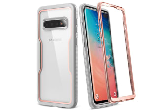 YOUMAKER Samsung Galaxy S10 Crystal Clear Shockproof Full-body Case Cover-Rose Gold