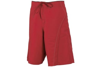 Tombo Teamsport Mens Unlined Board Shorts (Red/Black)