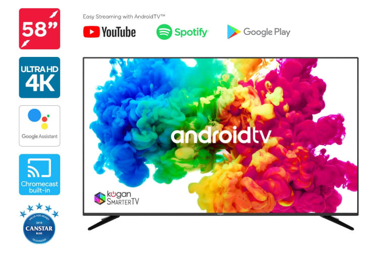 "Kogan 58"" XU9010 4K LED SmarterTV™ ( Android TV™, Smart TV )"