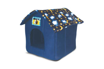 Ancol Pet Products Just 4 Pets Moon And Stars House Bed (Assorted Colours) - ASRTD (Assorted) (One Size)