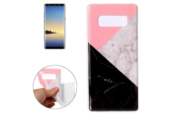 For Samsung Galaxy Note 8 Back Case Elegant Marbled Protective Cover Pink Black