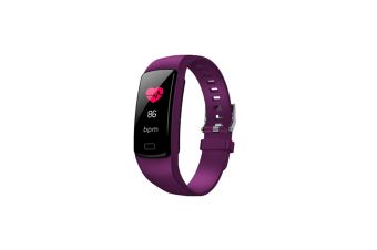 Smart Bracelet Smart Watch Sports Fitness Activity Heart Rate Tracker Purple