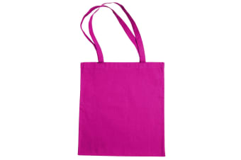 "Jassz Bags ""Beech"" Cotton Large Handle Shopping Bag / Tote (Magenta)"
