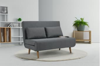 Ovela Jepson 2 Seater Sofa Bed (Slate Grey) - Kogan.com