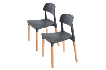 Replica Belloch Stackable Dining Chair - BLACK X2