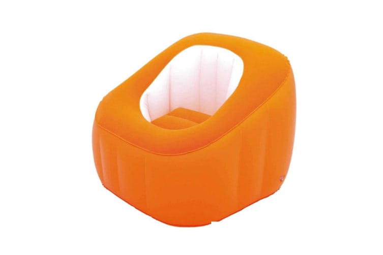 Bestway Cube Inflatable Air Chair Ottoman Indoor Outdoor Orange