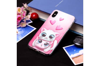 For iPhone XS Max Case Lovers Cat TPU Protective Back Cover