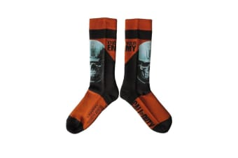 Call Of Duty Know Your Enemy Design Socks (1 Pair) (Black) (One Size)