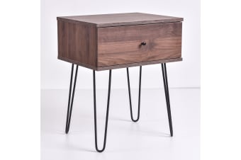 Ashe Bedside Table - Columbia Walnut