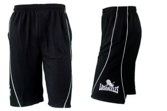 Men's Casual Gym Sports Basketball Running Training Shorts Size S-XXXL -Black