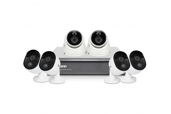 Swann 8 Channel 1080p 1TB DVR with 4 x PRO-1080MSB & 2 x PRO-1080MSD Thermal Motion Sensing HD Cameras (SWDVK-845806D2)
